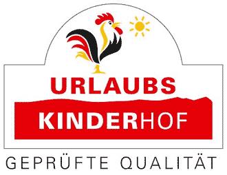 Auszeichnung Qualitätsgeprüfter UrlaubsKinderhof beim Blauen Gockel